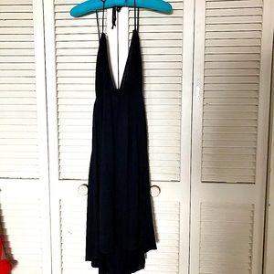 ASOS Black Mini Halter Strappy top dress sz 14